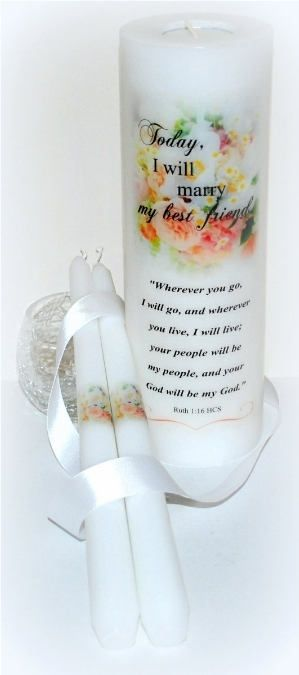 Excited to share the latest addition to my #etsy shop: Wherever you go I will go, Ruth 1:16, Messianic wedding unity candle keepsakes, handmade personalized candle set designs underneath the wax http://etsy.me/2C0Myo5 #weddings #decoration designsbydmministry.etsy.com