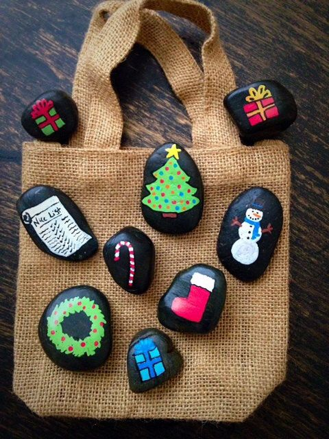 Christmas Story Stones by starrygirlb on Etsy