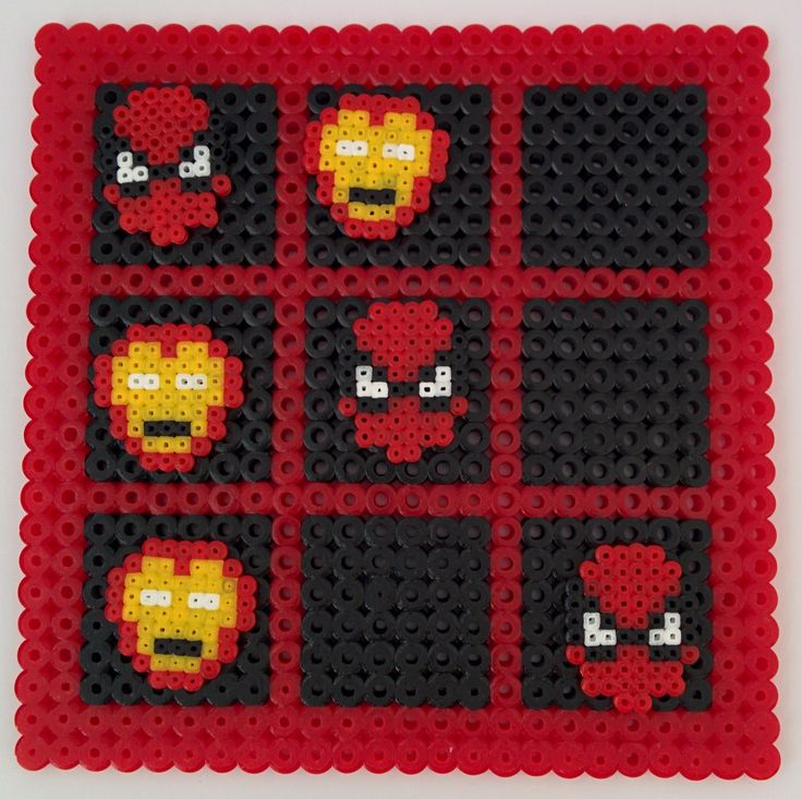 Pixel Art – Tres en raya Ironman y Spiderman |