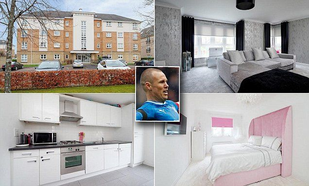 Not your usual footballer's pad! Kenny Miller's three-bed for £185,000