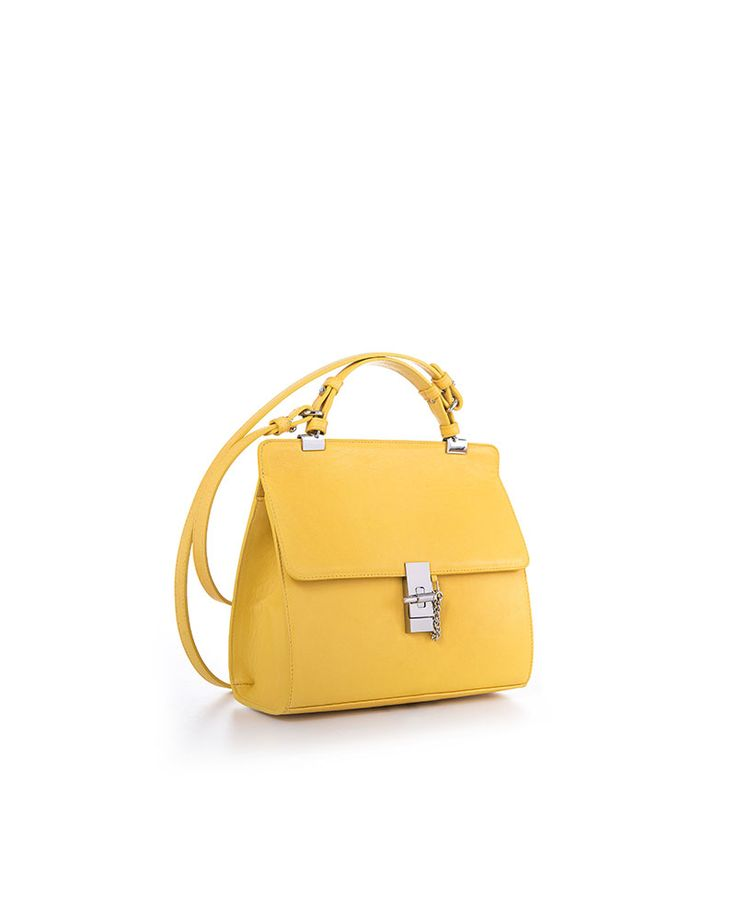 CN SHOULDER MINI YELLOW NAPPA - YVY BAGS