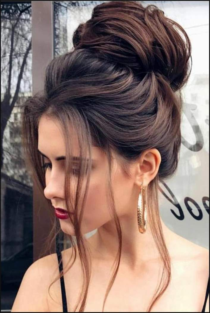 huge chunk with lots of volume, free falling long strands … | Simple hairstyles