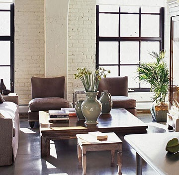 Flooring types exposed brick and painted brick walls on for Best type of flooring for living room