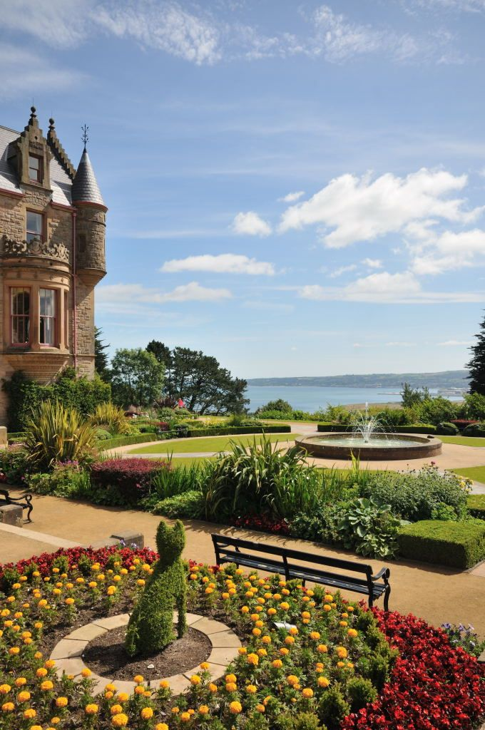 Belfast Castle, Northern Ireland, just behind is Cave Hill with amazing views over Belfast Lough.