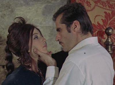 La ragazza con la pistola, 1968, directed by Mario Monicelli. Monica Vitti is Assunta Patanè and Aldo Giuffrè is Vincenzo Maccaluso. La cittadina siciliana, scena iniziale del film, è nella realtà il paese pugliese di Polignano a Mare, dove ha avuto i natali Domenico Modugno. Alcune scene sono girate nella vicina Conversano.