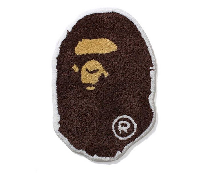 Dress Up Your Home Decor With BAPE's Ape Head Rug. A streetwear upgrade for your home
