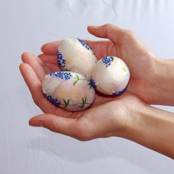 Ostern Eier / hand Gefilzte Ostern Dekoration / von katinytis