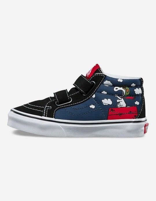 94c8be5068 Vans UY SK8-Mid (Peanuts) Flying Ace Dress Blues VN0A346YOHK Kids Size 2.5   fashion  clothing  shoes  accessories  kidsclothingshoesaccs  girlsshoes  (ebay ...