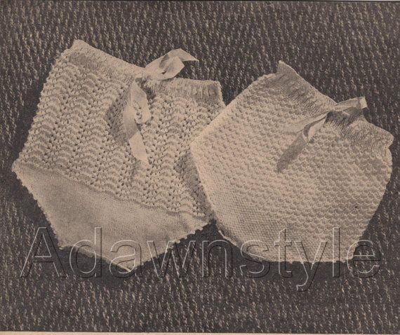 Vintage Nappy Cover Pants  Fit to 6 months  in PDF by Adawnstyle, $2.00