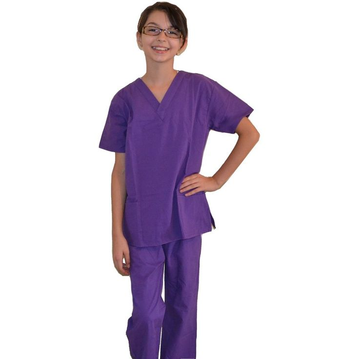 Kids Scrubs Purple REAL Childrens Doctor and Nurse Scrub Sets #Value #Uniform