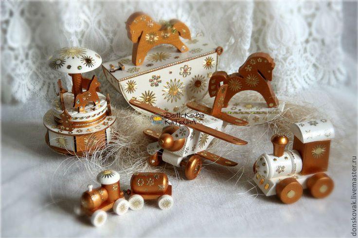 """Купить Деревянные игрушки """"Ivory&Gold"""" - Новый Год, новый год 2014, год лошади, корпоративные подарки"""