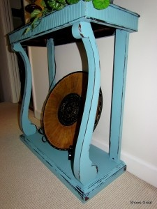 Side Table painted with Annie Sloan paint.