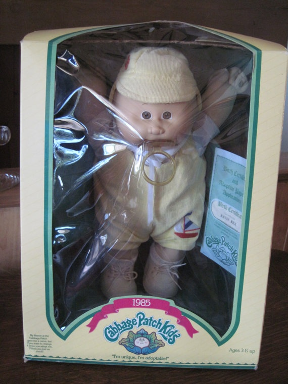 Vintage Cabbage Patch Kid 1985 Cabbage Patch Kid by PhotosPast, $65.00