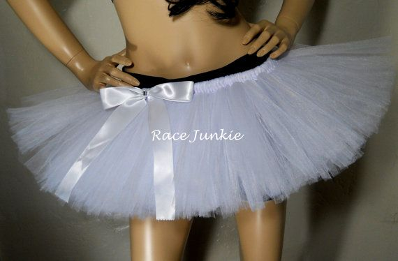 White Choose your own colors. 9 inch Color run tutu by RaceJunkie, $30.00