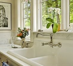 Kitchen Faucet & Old Time Sink