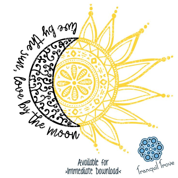 Another addition to my #etsy shop: SVG & DXF design - Live by the Sun, Love by the Moon - doodle - cut files (Cricut\Silhouette) http://etsy.me/2DJxBGX #decal #design #handdrawn #doodle