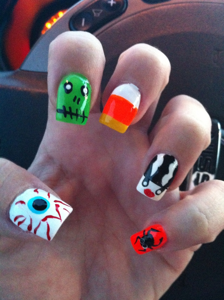 17 Best images about Halloween Nails on Pinterest