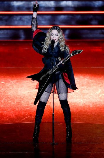 Madonna performs during her Rebel Heart Tour at Allphones Arena in Sydney, Australia