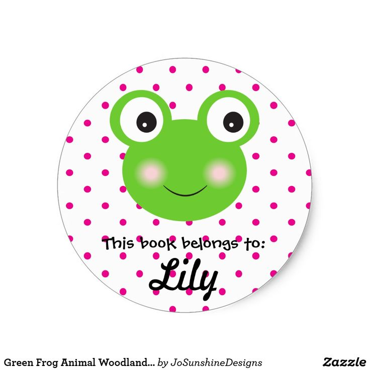 Green Frog Animal Woodland Face Blue Book Girl