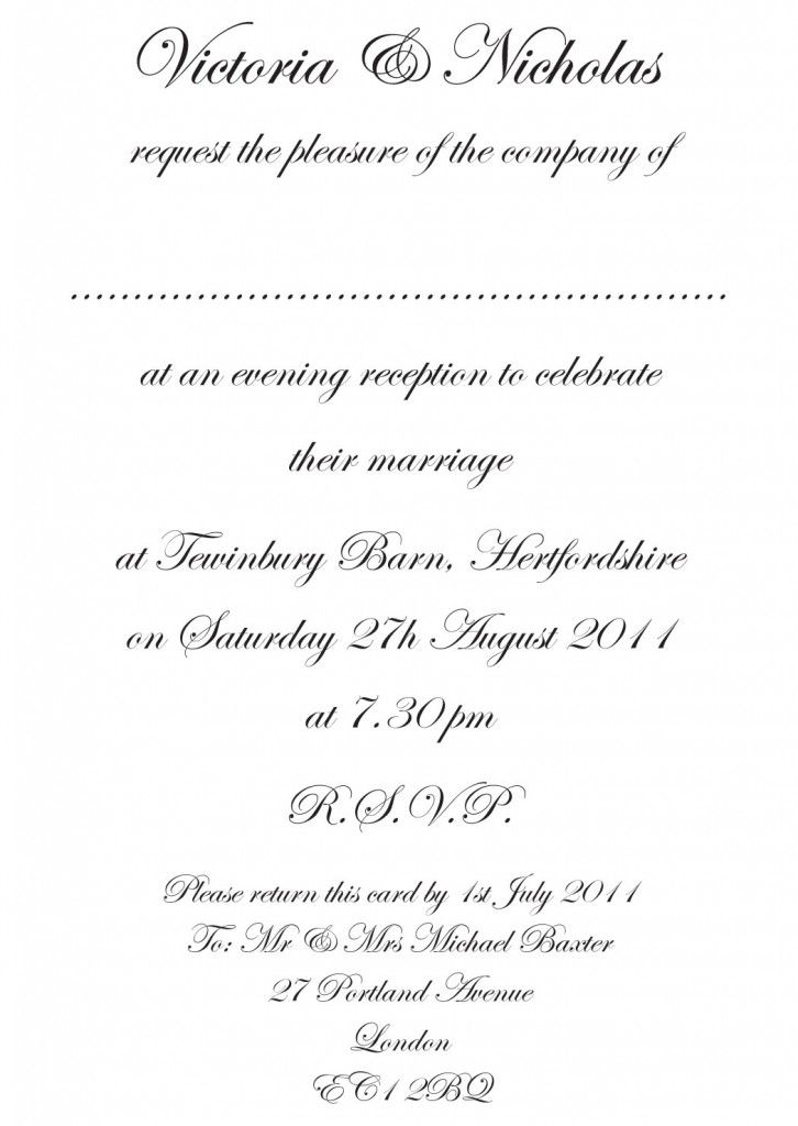 Wedding Invitation Etiquette And Wording