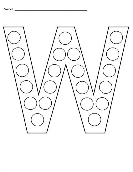 Free Letter W Do A Dot Printables Uppercase Lowercase Letter