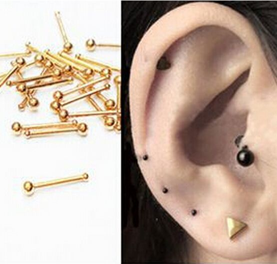 2pcs 18G nose rings Super Mini Titanium Flower Star Surgical Steel Tiny Ear Cartilage Wrap Ring Tragus Earring Piercing Jewelry