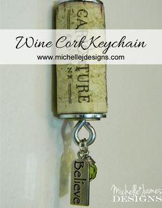 Cork Keychain Tutorial :http://michellejdesigns.com/cork-keychain-tutorial/