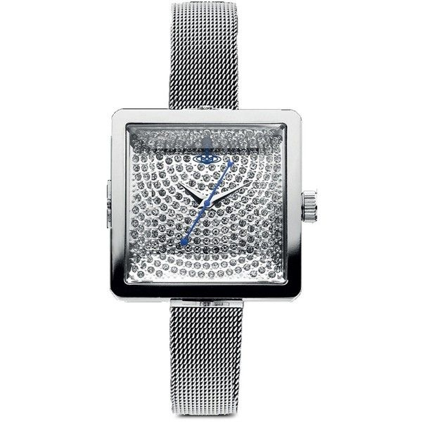 Vivienne Westwood Lady Cube Analog VV053SLSL Watch ($28) ❤ liked on Polyvore featuring jewelry, watches, vivienne westwood, analog wrist watch, vivienne westwood watches, analog watches and vivienne westwood jewelry