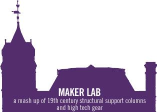 Maker Lab: a mash up of 19th century structural support columns and high tech gear