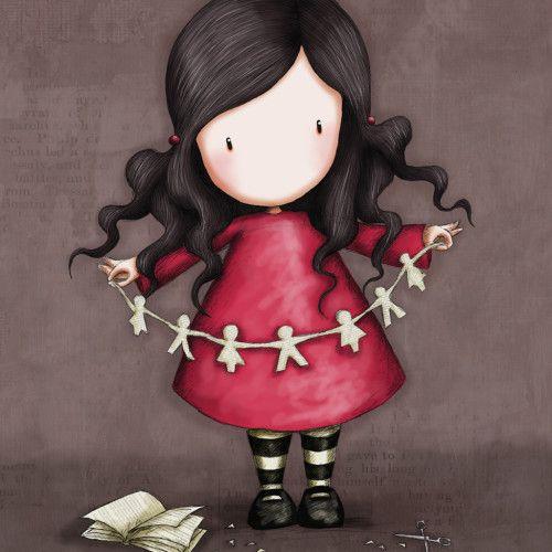 la petite fille à la robe rouge / Gorjuss