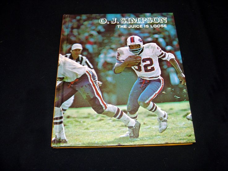 OJ Simpson the juice is loose book - vintage o j simpson book - oj simpson football player book - vintage the pros book by BECKSRELICS on Etsy