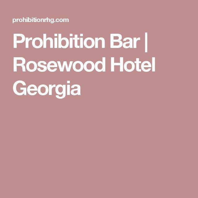 Prohibition Bar | Rosewood Hotel Georgia