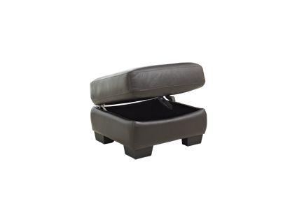 Millan express storage footstool in chocolate