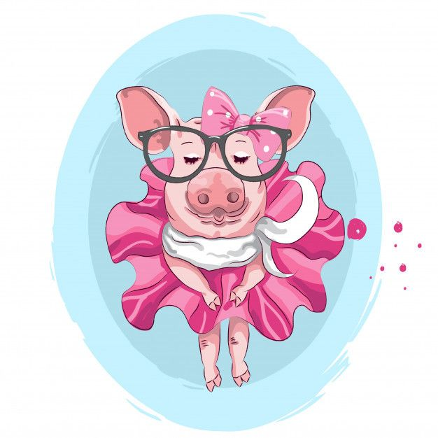 Смешная новогодняя картинка свиньи
