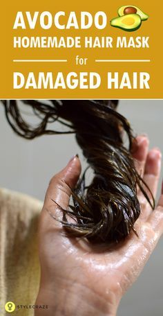 A homemade hair mask for dry and damaged hair will be different from that of a hair mask that is made for frizzy hair, which is dry but not damaged. One of the first things to understand before you prepare your hair mask at home is what hair type you have. The homemade hair mask shown here is typically great for brittle and dry hair. #Hairmasks