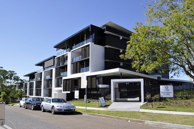 The Village @ Coorparoo, Brisbane - Retirement Village by S3 Architects    Building 1 - Goring Street Elevation + Communal Facilities Entry Gatehouse