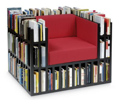 Book-Chair: Bookshelves, Book Lovers, Idea, Bookshelf Chairs, Decoration, Libraries Chairs, Reading Chairs, Furniture, Book Chairs
