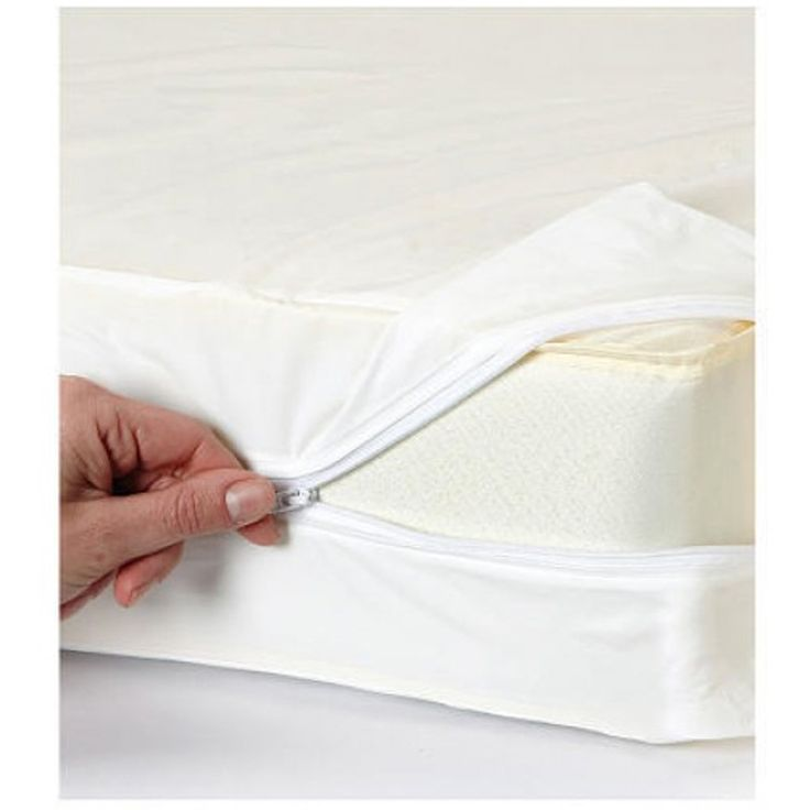 Waterproof Fabric Mattress Cover Dust Mite Bed Bug Protector In 4 Sizes
