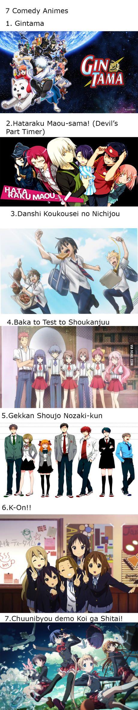 7 Comedy Animes