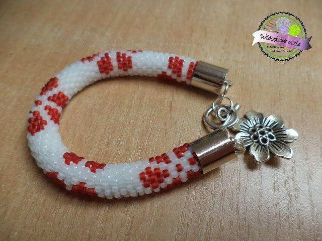 bransoletka w kwiatki na szydełku  crochet bracelets in flowers