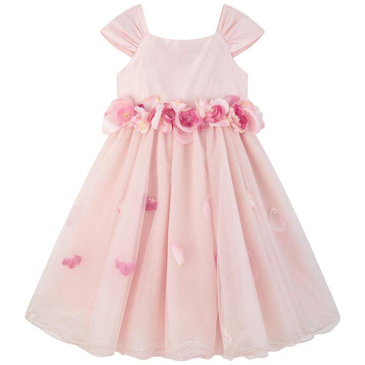 LESY Платье из тафты, украшенное цветами Цвет: Светло-розовый
