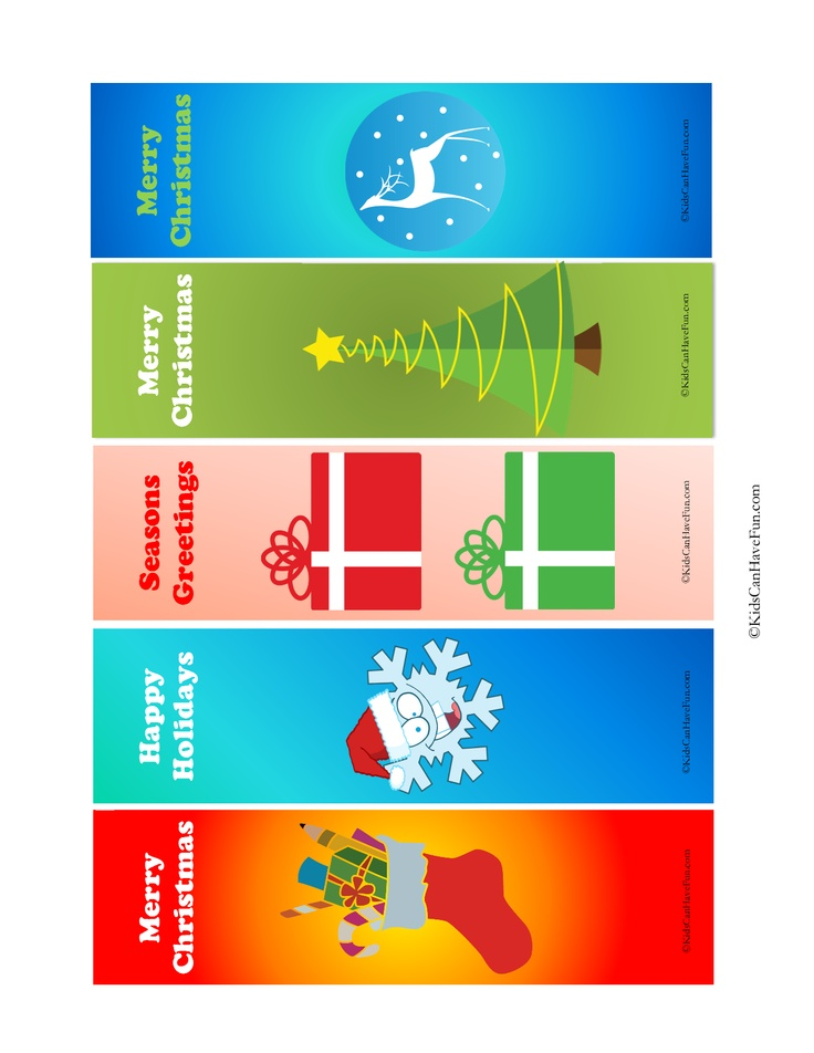 Christmas Bookmark Templates Christmas Bookmarks, Christmas Bookmarks, How  To Craft To Color By Hand Hellokidscom,  Christmas Bookmark Templates