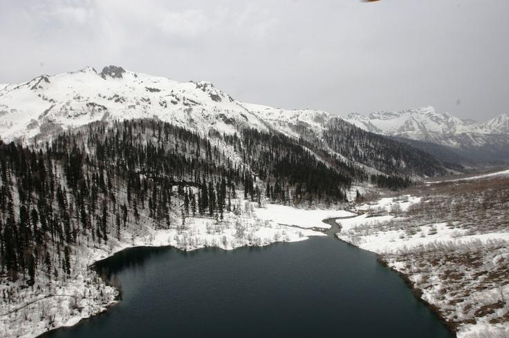 Kardyvach lake, Krasnaya Polyana, Sochi, Russia