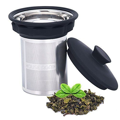 Loose Tea Infuser Filter Extra Fine Mesh Stainless Strainer Steeper Basket for Brewing Steeping Loose Leaf Tea Herbal in Cups, Mugs and Teapots
