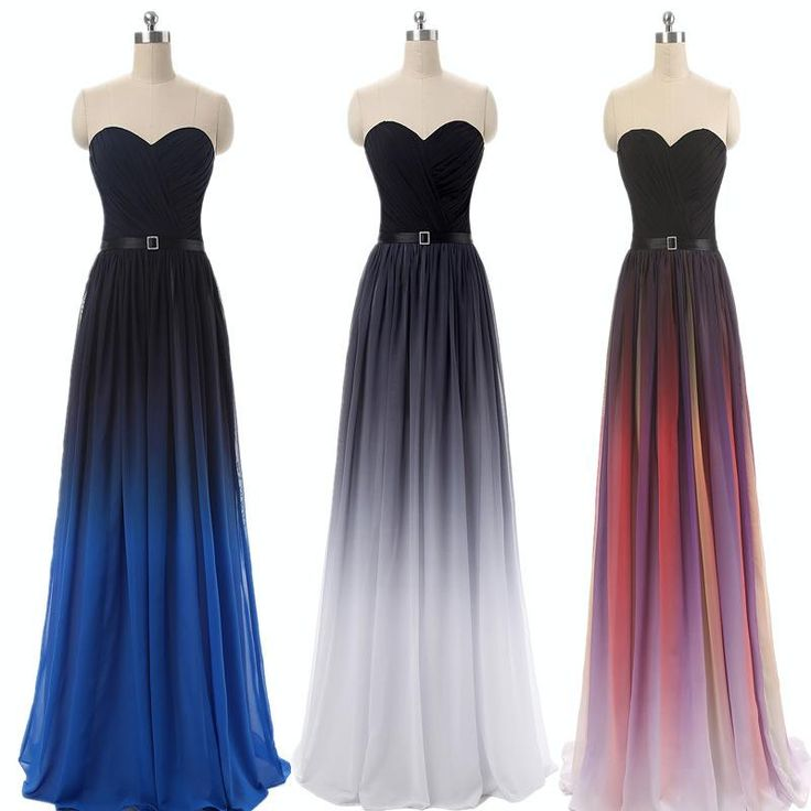 New Evening Dresses Long Gradient Colorful Ombre Chiffon Prom Dresses Gowns A Line Evening Party Gowns Summer Dresses Plus Size Evening Maternity Dress Evening Short Dress From Zl1990w, $52.36| Dhgate.Com