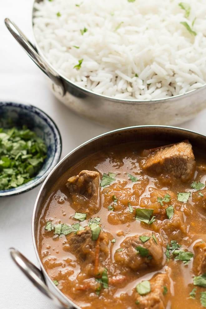 This skinny lamb curry is great when you want to enjoy the full flavours of a lamb curry without the guilty feeling of over-indulging. It's oozing with flavour and much more figure friendly than an average Indian restaurant curry. You'll love the taste of the tender lamb and the delicious curry flavours here!