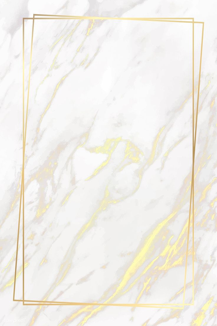 Download premium vector of Rectangle golden frame on a marble background