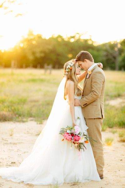 Ah-dorable couple: http://www.stylemepretty.com/2014/10/04/rustic-wedding-with-pops-of-pink/ | Photography: Haley Rynn Ringo - http://haleyringo.com/