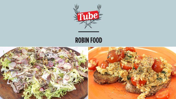 Puedes ver la receta en http://ttiki.eu/BkLhzU Ensalada de conejo confitado: 00:00 Huevos revueltos rojos