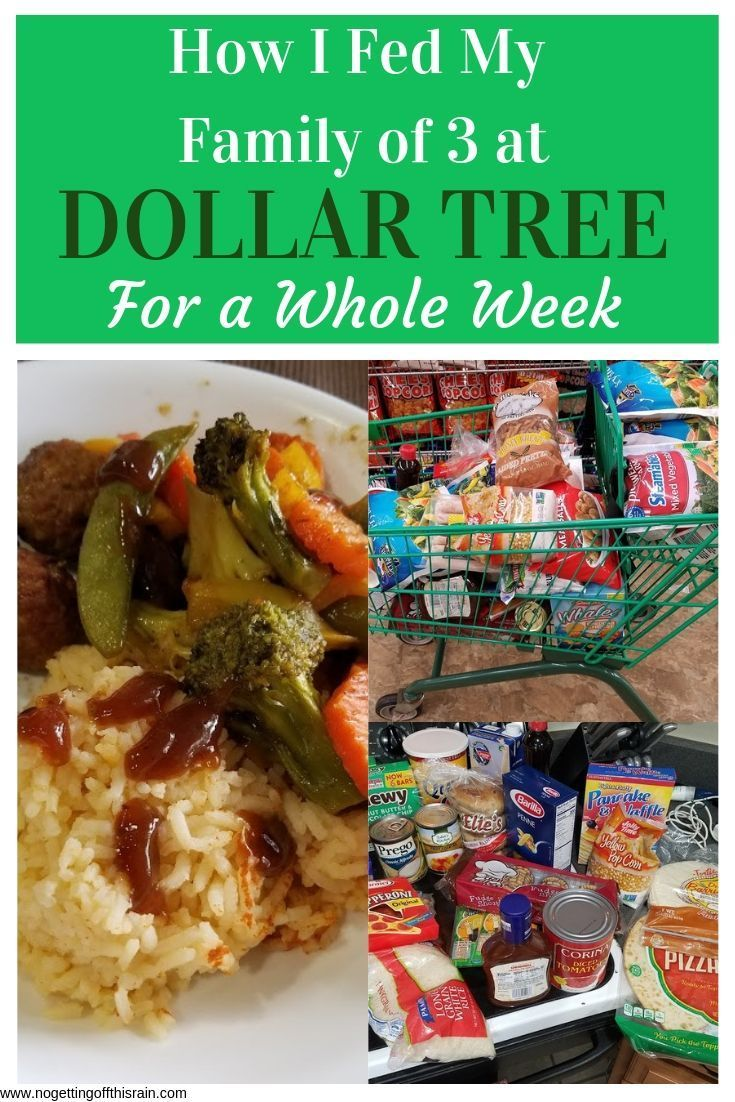 Dollar Tree Meal Plan For A Family Of 3 Meal Planning Meals